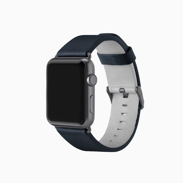 Apple Watch Leather Band - Navy