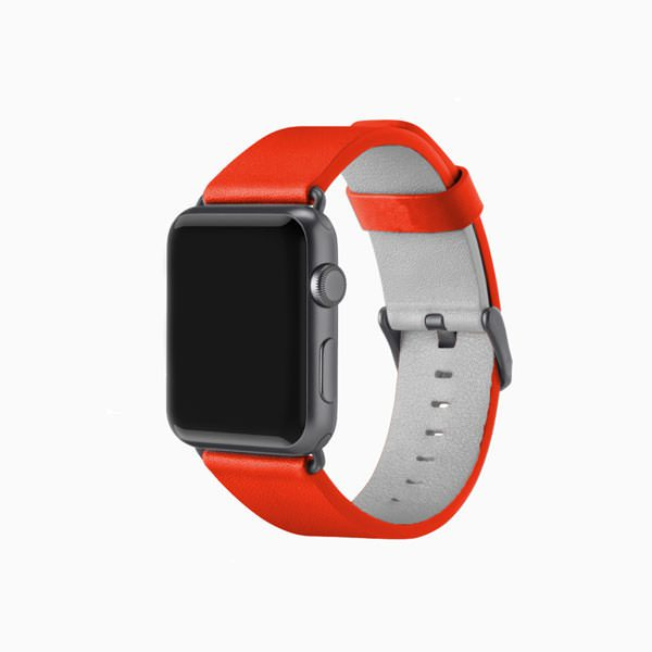 Apple Watch Leather Band - Red