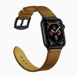 Apple Watch Leather Band with Holes - Brown