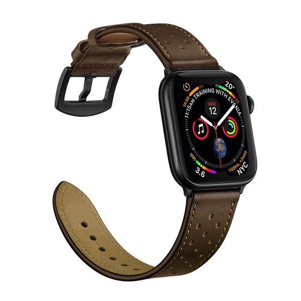 Apple Watch Leather Band with Holes - Dark Brown