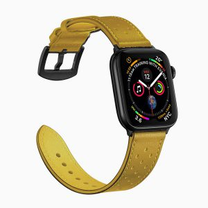 Apple Watch Leather Band with Holes - Light Brown